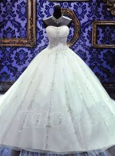 Tbdress.com offers high quality Crystal Ball Gown Strapless Beaded Lace-Up Wedding Dress Ball Gown Wedding Dresses unit price of $ 249.84.