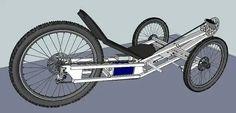 Velo Tricycle, Trike Bicycle, Recumbent Bicycle, Trike Motorcycle, Go Kart Steering, Pedal Cars, Cool Bicycles, Bike Parts, Bike Frame