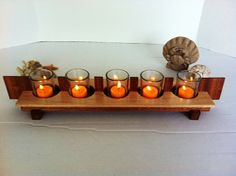 Votive or Tealight 2 Tone Wood Candle Stand  table by kamsstorecom, $44.95