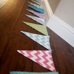 Fabric Pennant Banner {30 Feet Long}  Wouldn't this be cute in a kids room with the alphabet on it?