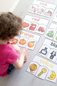 Colour puzzles for toddlers and preschoolers Set of 10 puzzles with American and Australian spelling Large printable puzzles for early learning Homeschooling 2 and 3 y. Teaching Toddlers Colors, Colors For Toddlers, Puzzles For Toddlers, Learning Colors, Toddler Puzzles, Learning Activities For Toddlers, Toddler Color Learning, Numbers For Toddlers, Counting For Toddlers