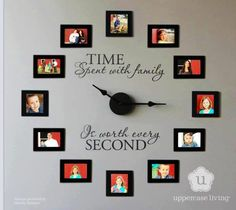 Family Clock for the Family Room - different and a must have! Very creative