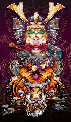 Pop Art Wallpaper, Graphic Wallpaper, Illustration Art Drawing, Art Drawings, Ed Hardy Designs, Comic Style Art, Japanese Artwork, Small Girl Tattoos, Samurai Art