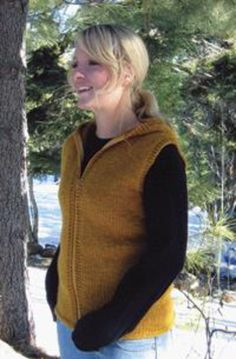 Bulky Hooded Vest for Women by Knitting Pure and Simple