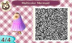 """(LINK) acnl-anaarin: """"Multicolored Mermaid Gown (Purple and pink) More colors and mermaid dresses here. """""""