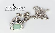 Dije viajero con piedra jade 9gr S/. 115  www.joyasuyo.com