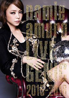 安室奈美恵「namie amuro LIVEGENIC 2015-2016」DVD盤ジャケット