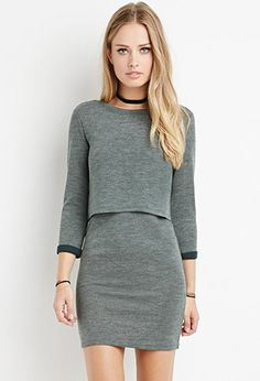 Layered Vented-Back Dress | Forever 21 - 2000162480 wear w/ black over the knee boots