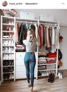 Best Closet Organisation Ideen, die Sie sofort stehlen möchten Best Closet Organization Ideas that you want to steal instantly like – Closet Bedroom, Closet Space, Bedroom Decor, Bedroom Storage, Wardrobe Storage, Shoe Storage, Closet Shelving, Clothes Rack Bedroom, Spare Room Closet