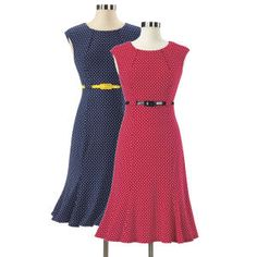 Misses Belted Polka Dot Dress - Women's Clothing, Unique Boutique Styles & Classic Wardrobe Essentials