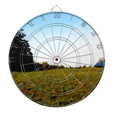A Day on the Farm Dartboard With Darts - barn gifts style ideas unique custom