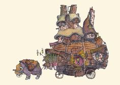 ArtStation - Little homes - Series, Fergal O' Connor Little Houses, Concept Art, Illustration, Modern, Artwork, Vehicle, Shops, Inspiration, Design