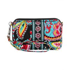 Vera Bradley All In One Crossbody ($54) ❤ liked on Polyvore featuring bags, handbags, shoulder bags, parisian paisley, crossbody shoulder bags, white shoulder bag, quilted crossbody, cell phone purse and white handbags
