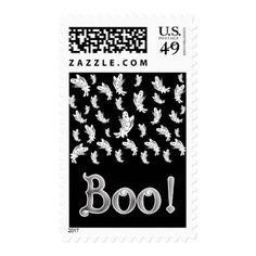Halloween - Just Ghostly Postage - pattern sample design template diy cyo customize