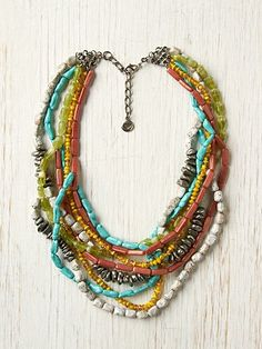 Multi Strand Necklace -love the colors... maybe get Linda to string one up??