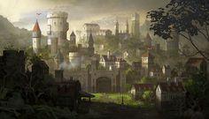 The Dragon s Hoard Fantasy concept art Fantasy landscape Fantasy city