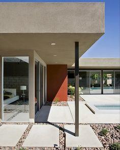 Mid-Century | Modern Design | Exterior | Rock Landscape | Glass Window