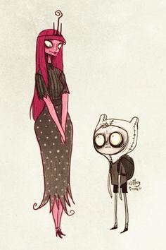 La Princesa Chicle y Finn, timburtunizados porhatboy.
