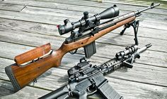 The M21 Sniper Weapon System (SWS) was evolved when the US Army needed a rifle with high accuracy during the Vietnam War. It is basically a semi-automatic sniper rifle adaptation of the M14 rifle. This rifle has been in service since 1969 and uses a 20-round box magazine. It is chambered for the 7.62×51mm NATO cartridge.