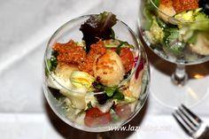 Lazy Blog: Copa de ensalada de vieiras al romesco #díadelaensalada