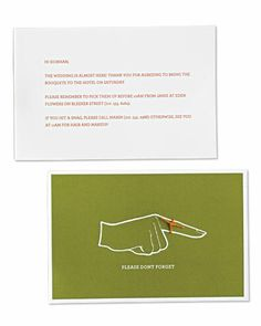 Friends want to pitch in around wedding time, so let them! Print our template for these gentle reminder cards to send to friends with how they can help
