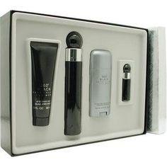 Perry Ellis 360 Black By Perry Ellis For Men. Set-edt Spray 3.4 OZ & Aftershave Balm 3 OZ & Deodorant Stick 2.75 OZ &  Eau De Toilette Spray .25 OZ Mini by Perry Ellis. $42.01. Packaging for this product may vary from that shown in the image above. This item is not for sale in Catalina Island. Launched by the design house of Perry Ellis.