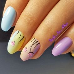 It's time to check out the latest spring nail designs as spring is on the way. Nail art is just as trendy as ever, and this year is no exception. There are plenty of hot new nail designs for the spring season. Spring Nail Art, Nail Designs Spring, Simple Nail Designs, Nail Art Designs, Nails Design, Pastel Nails, Pink Nails, Cute Nails, Pretty Nails