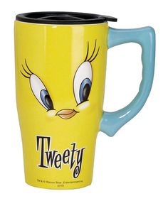Love this Tweety 14-Oz. Travel Mug by Looney Tunes on #zulily! #zulilyfinds
