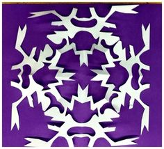 Here's a kirigami project resulting in a symmetrical design.