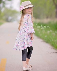 Patricia's Boho Top and Tunic. PDF Pattern sizes 2T-12 Simple Life Pattern Company