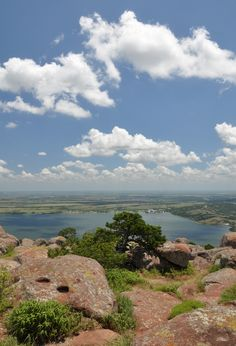 View atop Mt. Scott, Oklahoma---one of my favorite places!  Grandpa & Grandma used to take us grandkids up there!