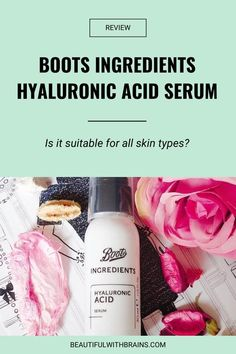 Is Boots Ingredients Hyaluronic Acid Serum an hydrating serum suitable for all skin types? I've put it to the test to find out. Acne Skin, Oily Skin, Sensitive Skin, The Ordinary Hyaluronic Acid, Hydrating Serum, Happy Skin, Skin Brightening, Skin So Soft, Good Skin