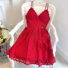 red lace sleeveless short school event dress applique v-neck homecoming dress sp. red lace sleeveless short school event dress applique v-neck homecoming dress spaghetti-straps backless evening dress party – Ball dresses – Red Lace Prom Dress, Red Homecoming Dresses, Hoco Dresses, Pretty Dresses, Evening Dresses, Formal Dresses, Dress Red, Graduation Dresses, Short Red Dresses