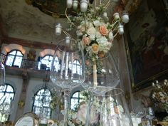 ...different view... Chandelier, Ceiling Lights, Table Decorations, Weddings, Furniture, Home Decor, Homemade Home Decor, Candelabra, Ceiling Light Fixtures