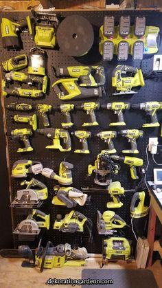 Ryobi tool collection | Garage storage in 2019 | Pinterest | Garage tools, Ryobi tools and Makita tools