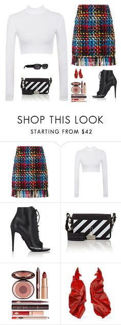 """""""Untitled #5383"""" by mdmsb on Polyvore featuring Sonia Rykiel, Off-White, Charlotte Tilbury and WWAKE"""