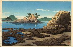 Baishinji Beach - Iyo Provence, by Kawase Hasui, 1950