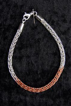 "Armband ""Viking-Knit"" bicolor von KDS Design auf DaWanda.com"