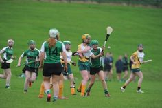 Dreadful blocking. The stick will only be in the right place to stop the ball for tiny fraction of a second. However, the chances of someone getting a broken hand are very high. This is a common sight in camogie. In hurling it would get a yellow card at least. The player in green should be coming in with her stick near horizontal so that it is on the possible path of the ball for as long as possible.