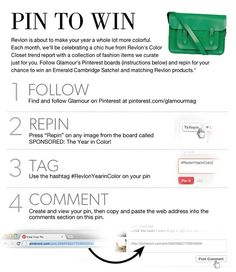 Sponsored: Keep on Pinning: Pin to Win #RevlonYearinColor  http://yearincolor.glamour.com/index.php