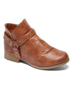 Look at this #zulilyfind! Cognac Harness Ankle Bootie by Chatties #zulilyfinds