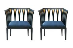 reproduction of Eliel Saarinen's Blue Chairs in collaboration with furniture maker Adelta. The art deco style Blue Chair was originally designed in Art Deco Chair, Art Deco Furniture, Sofa Furniture, Furniture Makeover, Modern Furniture, Furniture Design, Furniture Movers, Office Furniture, Victorian Furniture