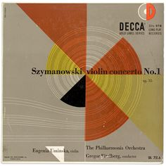 Decca Records album cover - Erik Nitsche