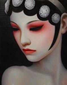 Quiet Reflection (China Girl Series) by Zhang Xiangming