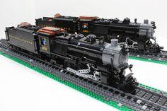 MOCs: Pennsylvania RR K4s Class Steam Locomotives #3750 & #1361 ...