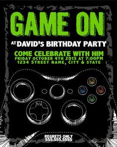 Xbox Birthday Party Invitations Cogimbo Us