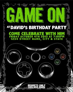 PhatBoy Slim Font Dafontcom Video Gaming Party Pinterest - Birthday invitation video