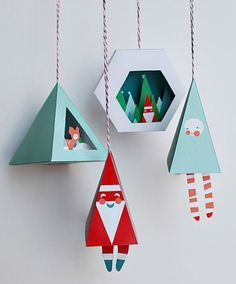Holiday houses in the woods, DIY and Crafts, Chirstmas Ornament Prinable DIY Craft - Snow Globe. Kids Crafts, Holiday Crafts For Kids, Christmas Projects, Holiday Fun, Craft Projects, Noel Christmas, Handmade Christmas, Origami Christmas, Christmas Baubles