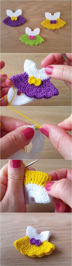 Crochet Cute Tiny Dresses