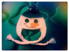 Cute Snowman Crochet Hat